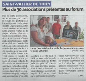 2014 août Forum des associations Saint-Vallier-de-Thiey