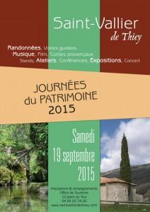 Saint-vallier--de-Thiey Journées du Patrimoine samedi 19 septembre 2015